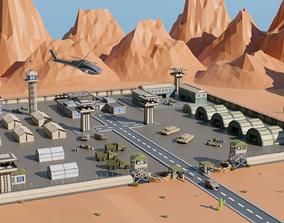 3D model Desert military base