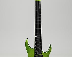 Fanned 8 string Guitar 3D