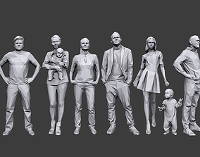 3D model Lowpoly People Casual Pack