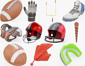 3D model American Football Collection