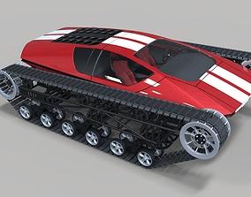 3D model Concept tracked sport car