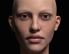 Human Girl Face 3D model