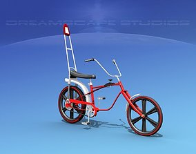 1970s US boys Chopper Style Bicycle 3D model