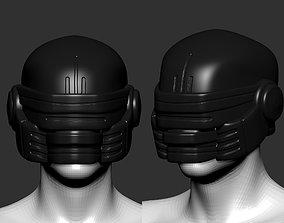 retro helmet high poly sculpt 3d printable 3D model