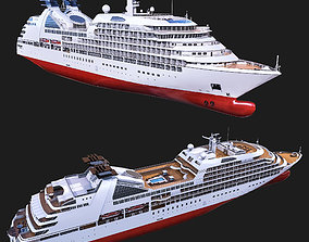 Game-Ready Cruise Ship 3D asset