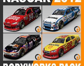 3D Nascar 2012 Cars - Different Bodyworks