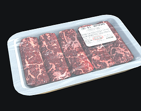 3D asset realtime Fresh Meat Package PBR