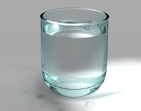 Glass with water 3D