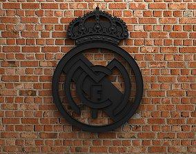 3D Real Madrid FC Logo