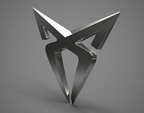 Cupra logo 3D model