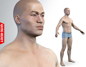 3D model Average Asian Male Body