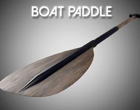 3D model VR / AR ready Boat Paddle