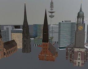 Hamburg High Rise Pack 3D model
