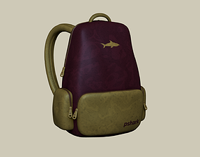 Wine Color Backpack - Character Costume 3D model