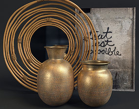 Dutchbone decorative set 3D model