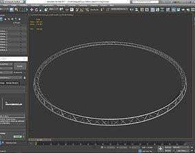 Circle Triangular Truss Full diameter 3D printable model 1