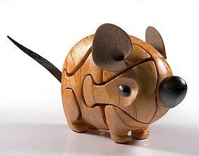 Wood Mouse Puzzle 3D model