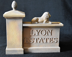 3D printable model LYON ESTATES Gate Back to the Future