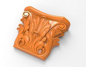 Carved CNC 3D print model carved
