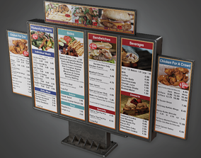 3D model Drive Thru Menu 01- SAM - PBR Game Ready