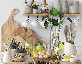 glass kitchen accessories 03 3D