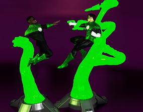 Green lantern Statue split nd keyed for 3D