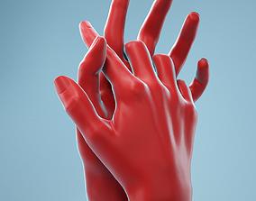 Interwoven Realistic Hand Model 18 3D