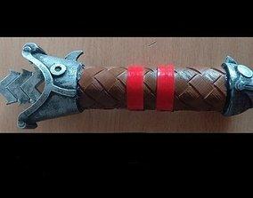 Foldable Hiccup sword 3D print model parts