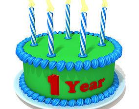 Birthday cake 02 3D
