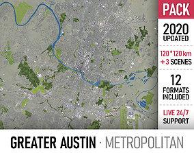 Greater Austin - metropolitan area 3D