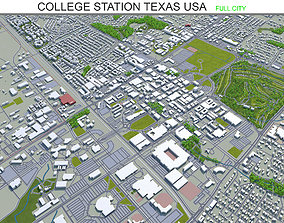 3D model College Station Texas USA 30km