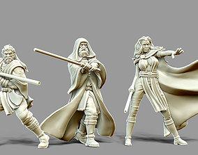 3D printable model Light Side Bundle - 3 jedi miniatures 1