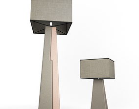 3D model Floor and Table Lamps Delta