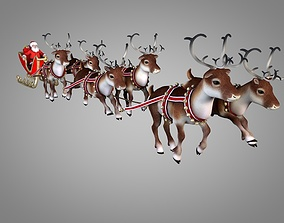 3D animated Santa Claus