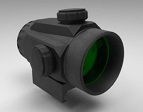 3D asset Red Dot - CQB Sight - Weapon Attachment - PBR