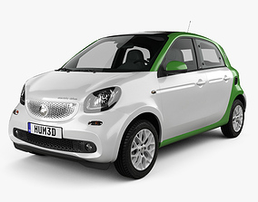 3D Smart ForFour Electric Drive 2017