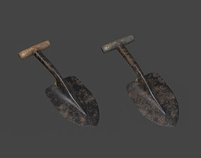 Trowel PBR gameready 3D asset