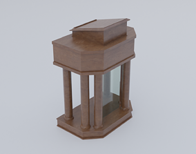 3D asset Church Pulpit