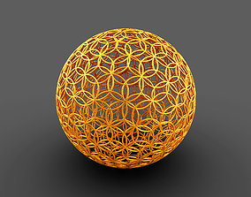 3D Geodesic Sphere with Circle Pattern flower of life