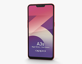 3D Oppo A3s Red