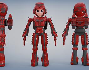 Space robot cartoon character 3D asset