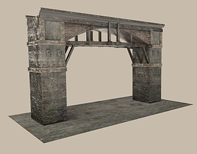 Medieval Gate 3D model low-poly