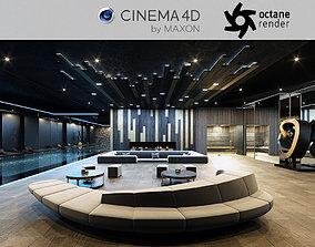 3D model Octane - C4D scene files - Residential Pool