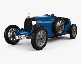 Bugatti Type 35 with HQ interior 1924 3D model