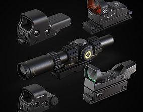 Various sighting scope 3D