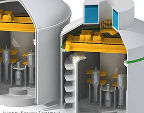 Nuclear reactor building 3D