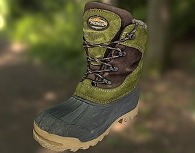 realtime Boot 3D model low poly - footwear
