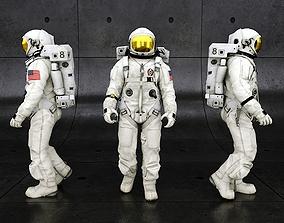 3D asset animated Space Suit