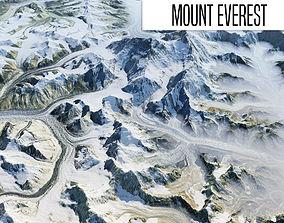 3D model Mount Everest
