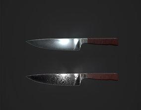 Chef knife 3D asset